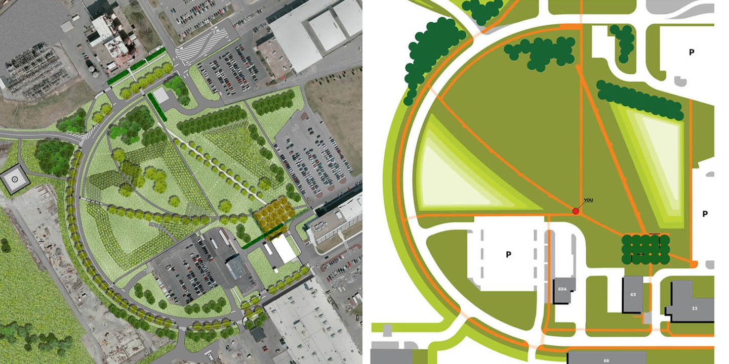 Master Plan & Signage Plan Graphic